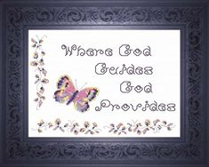 Where God Guides - Quote Cross Stitch Design Cross Stitch Charts, Cross Stitch Designs, Cross Stitch Embroidery, Cross Stitch Patterns, Meaningful Gifts, Joyful, Custom Framing, Bible Verses, Custom Design