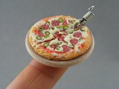Not too many calories in this miniature pizza!  :-)