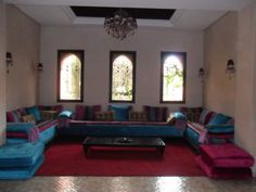 Inspiring Moroccan Living Room Designs : Amusing Moroccan Living Room  Design Inspiration With Appealing Chandelier And