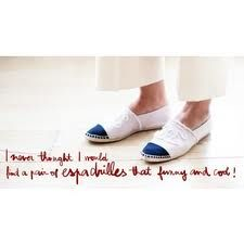 So simple and so chic...Chanel espadrilles (Garance Dore)
