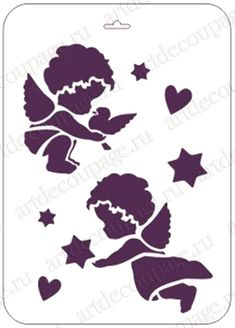 Трафарет для декора Ангелочки, Event Design, 21х31 см