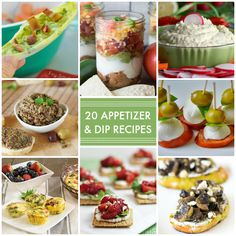 20 Appetizer and Dip Recipes! Definitely pinning this for next time I have a party! -- Tatertots and Jello