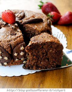Torta al cacao e ricotta cremosa con pan di stelle vickyart arte in cucina