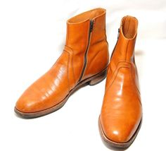 Soft Leather Side Zip Ankle Boots Mens US 11 1/2 by Ramenzombie, $65.00