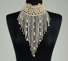 Collar Date: 1892 Culture: French Medium: Silk, linen, beads