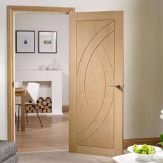 Simpli Door Set, Treviso Oak Flush Door - Prefinished.  #trevisodoorset #simplitrevisodoor #doorframekitsimpli