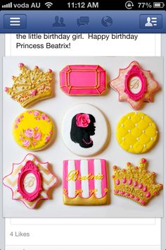 Beautiful princess cookies.