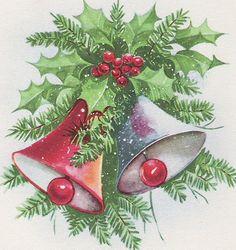 Wayside Treasures: More Vintage Christmas Cards ~