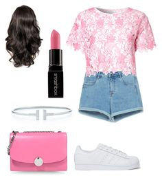 """""""#50"""" by inesstyles14 ❤ liked on Polyvore featuring beauty, Zara, adidas Originals, Glamorous, Marc Jacobs and Smashbox"""