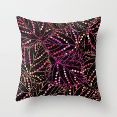 Leaf abstraction(4). Throw Pillow