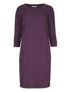 Cable Jacquard Sweater Tunic Dress | M&S