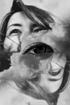 Zwart-wit zelfportret