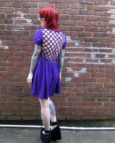 Evil Twin Paranoid cage-back babydoll dress! $92 at shopblacksalt.com, also available in black <3