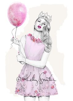 Party Girl LIMITED EDITION PRINT A3 by birdyandme on Etsy, $80.00
