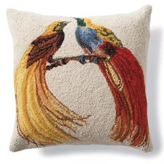 With its intricate design of expertly hand-hooked wool, the compliments will flock in for our Lovebirds Hook Pillow.