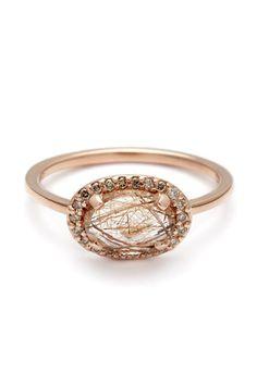 Anna Sheffield Pavé Amulet Ring, $1,200; annasheffield.com