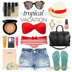 Your Tropical Vacation, created by polyvore-editorial on Polyvore