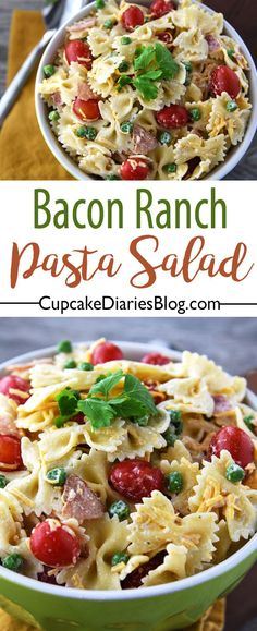 Bacon Ranch Pasta Salad with Barber Foods Broccoli Cheese Stuffed Chicken Breasts #ad #BarberNight @barberfoods