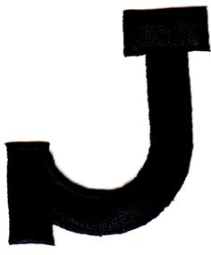"""Amazon.com: [Single Count] Custom and Unique (1 3/4"""" Inches) American Alphabet Simple Script Capital Letter J Iron On Embroidered Applique Patch {Black Color}: Arts, Crafts & Sewing"""
