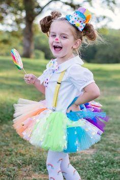 Rainbow confetti tutu/clown tutu