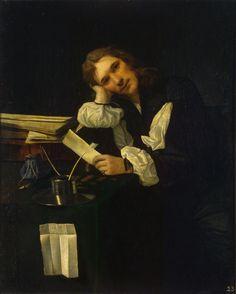 Author: Sweerts, Michiel. 1624-1664  Title:  Portrait of a Young Man (Self-Portrait ?)  Place: Flanders  Date: 1656  Material: canvas  Technique:  oil  Dimensions:  114x92 cm ...