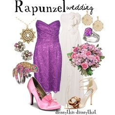Rapunzel - Wedding, created by disneythis-disneythat on Polyvore. I really only like the purple dress