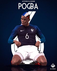 "1,579 gilla-markeringar, 11 kommentarer - AZ DESIGNER (@az_designer22) på Instagram: ""@paulpogba @equipedefrance 🇫🇷 @fifaworldcup #pogba #pogboom #paulpogba #equipedefrance #fff…"" Football 101, Madrid Football Club, Football Awards, Best Football Players, Soccer Players, Football Soccer, Football Player Drawing, Soccer Drawing, Paul Pogba Manchester United"