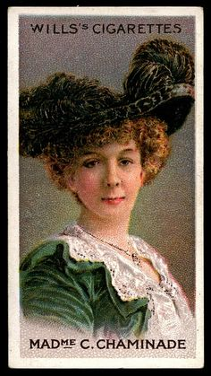 Cigarette Card - Pianist, Madame Cecile Chaminade by cigcardpix, via Flickr
