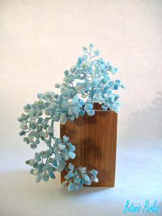 Petit bonsaï en Amazonite et perles de rocaille, style cascade : Accessoires de maison par botanic-perles