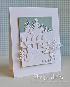 A FAVORITE FOR THE 'ALL WHITE' CROWD! I LOVE IT! AND GOOD USE FOR THAT FENCE AND BUNNY!!!