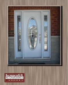 Doors   Single Door With Double Sidelights, Oval Glass
