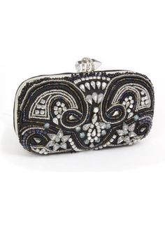 Look what I found on Black & Rainbow Beaded Evening Clutch by Magid Prom Accessories, Fashion Beads, Beaded Boxes, Prom Jewelry, Vintage Purses, Beautiful Bags, Evening Bags, Purses And Handbags, Coin Purse