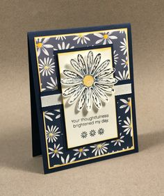 Team Swap card made by Jennifer G featuring the Daisy Delight Stamp Set, Daisy Punch and Delightful Daisy DSP by Stampin' Up!
