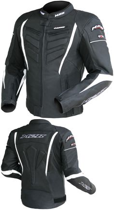 M2R STRIKE LEATHER JACKET BLACK WHITE