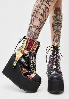0ad0e30fe8f Demonia Black Hole Platform Boots at Dolls Kill