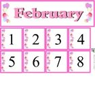 Free February Calendar Set includes month and number cards...