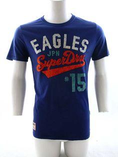 Superdry Team Eagle Flock T-Shirt Supermarine Navy