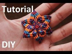 DIY Macramé Flower Earrings - Tutorial - YouTube