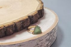 Jade Ring Triangular Stone Gold Adjustable Ring Adjustable Ring Lapis Ring Gold Ring Triangular Jade Ring Jade Gold Gold Ring Adjustable Handmade Items, Handmade Jewelry, Jade Earrings, Jade Ring, Stone Gold, Love To Shop, Earring Tree, Vintage Items, Gold Rings