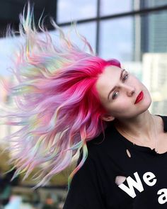 We brought the Riot to Australia! 🇦🇺 🖤🤘🏼 Created this on booth with 🌈 Prep help from Pulp Riot Hair Color, Best Hair Dye, Beach Curls, White Manicure, Dying Your Hair, Aesthetic Hair, Cut And Color, Pink Hair, Pretty Hairstyles