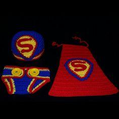 Superman baby crochet