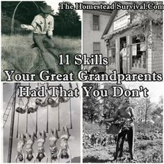 The Homestead Survival   11 Skills Your Great Grandparents Had That You Don't   Homesteading - http://thehomesteadsurvival.com