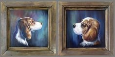 Beagles portrait - oil on canvas Oil On Canvas, Illustration, Painting, Graphic Design, Fine Art, Beagles, Gallery, Drawings, Artwork
