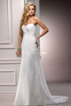 trendy Empire Sweetheart Lace-up Back Sweetheart Wedding Dress picture 1