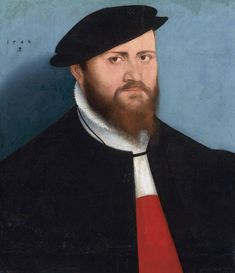 (1) Portrait of a man in a hat (possibly King Sigismund II Augustus) by Lucas Cranach the Younger, 1548, Private collection, (2) Medal of Sigismund II Augustus aged 29 on the occasion of birthday anniversary and coronation (reverse) by Dominicus Venetus, 1549, Ossolineum in Wrocław. On 1 April 1548 died Sigismund Augustus' father, Sigismund I the Old, and his only son formally assumed throne at the age of almost 28. Identification by Marcin Latka (Artinpl). #16thcentury #artinpl… Art Central, Lucas Cranach, Renaissance Portraits, Cleveland Museum Of Art, Renaissance Men, Global Art, Old Master, 16th Century, Art Market