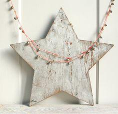 Large Vintage Wooden Rustic Star / Sign,