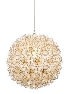 Capiz shell pendant, pretty!