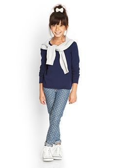 "Classic Knit Top (Kids) | Forever 21 girls - <a href=""tel:2000060343"">2000060343</a> In oatmeal."