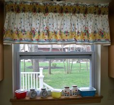 Kitschy Kitchen Vintage 50s Window Valance Cherries by danlyn3085, $29.99 I love this curtain!!