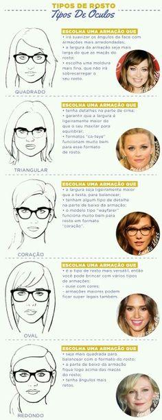 Tipos de Óculos para cada rosto